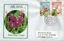 Orchidées De Papouasie, Sur Lettre FDC Adressée En Australie - Papua New Guinea