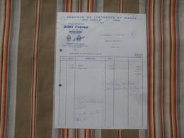 54 HERSERANGE GORI FRERES La Petillante Fabrique De Limonades Et Sirops.... - Rechnungen