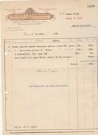 Suisse Facture Illustrée 31/3/1928 RENAUD & CLERMONT Argenterie Coutellerie Porcelaine Cristaux  GENEVE - Suisse
