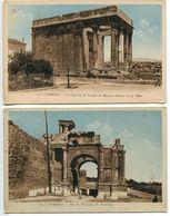 Algérie - LOT 2 Cartes Couleur TEBESSA Le Capitole Temple De Minerve ( Musée ) Et Arc De Triomphe De Caracalla - Tebessa