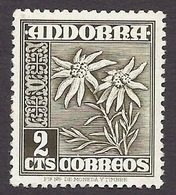 Andorra (Spanish) 1951 - Edelweiss, Stella Alpina, Flowers Of The Mountains MNH - Neufs