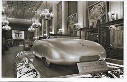 Mercedes Benz Voiture De Course 1936 Carte Photo Exposition Internationale Paris 1937 Le Pavillon Allemand - Sport Automobile