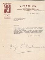 Suisse Lettre Illustrée 29/4/1935 Humbert Droz VIVARIUM Poissons Exotiques ( Vente Tortues D' Amérique ) GENEVE - Suisse