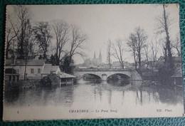 """Cpa - 28 - Chartres - Le Pont Neuf - 1915 Tampon """"union Des Femmes De France"""" Hopital Auxiliaire Du Territoire N 103 - Chartres"""