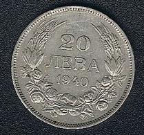 Bulgarien, 20 Leva 1940 - Bulgarie