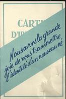 Carte D'identité D'un Nouveau Né. Carte 2 Volets 10,5 X 7 - Naissance & Baptême