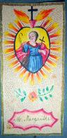 CANIVET MANUEL SAINTE MARGUERITE SANTA MARGARITHA ENCADREMENT DORE BON ETAT 10 X 5 Cm - Imágenes Religiosas