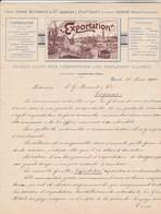 Suisse Lettre Illustrée Double Page + Encart Publicité Tarifs  1900 H SCHWARZ EXPORTATION Journal Feuille D'avis ZURICH - Suisse