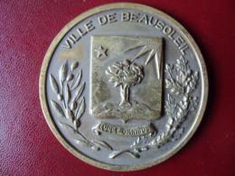 Ancienne Médaille De Table Bronze Ville De BEAUSOLEIL - Touristiques