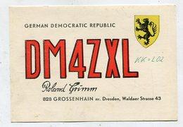 QSL Card - AK 346670 German Democratic Republic - Grossenhain - Radio Amateur