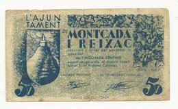 Spain Ajuntament De Montcada I Reixac 50 Centims 1937 - [ 3] 1936-1975 : Régence De Franco