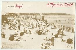 Carte Photo POLOGNE GDYNIA  La Plage Au Mois D'Août   1926  Fot R. Morawski           Gc36 - Pologne