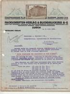 Suisse Lettre Illustrée 21/6/1923 Fachshriften Verlag & Buchdruckerei A G Publication ZURICH - Suisse