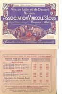 Livret Tarif + Encart / Association Vinicole SAINT LOUIS / 66 BANYULS SUR MER / - 1900 – 1949