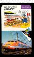 Fiche Humour Chemin De Fer Train TGV France SNCF Chef De Gare Drapeau   /  IM 01/D4 - Vieux Papiers