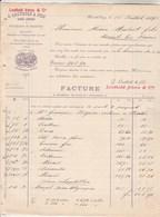 Suisse Facture Double Page 18/7/1893 LEUTHOLD Bonneterie ZURICH ENGE - Suisse