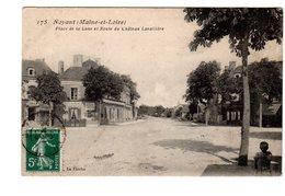 CPA 49 - Noyant ( Maine Et Loire ) Place De La Lune Et Route Du Château Lavallière - Autres Communes