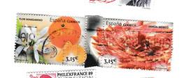 2 Timbres 3,15 Euro - Flor Mandarino EtJamon Iberico - 2011-... Usati