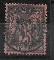 SAGE N/U - YVERT N° 91 OBLITERE - COTE = 35 EUR. - LUXE - 1876-1898 Sage (Type II)