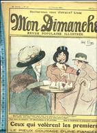 JOUEURS ECHECS MIXTE JEU ECHECS ILLUSTRATEUR ABEL PANN COUV REVUE MON DIMANCHE 1911 - Livres, BD, Revues