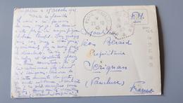 CPA Poste Navale, Croiseur SUFFREIN, De Singapour En 1945  .................... MM-2288 - Marcophilie (Lettres)