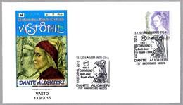 750 Años Nacimiento De DANTE ALIGHIERI (1265-1321). Vasto, Chieti, 2015 - Exploradores