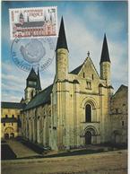 Carte-Maximum FRANCE N° Yvert 2002 (Abbaye De FONTEVRAUD) Obl Sp Ill 1er Jour (Ed Steff) - Cartoline Maximum