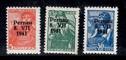 Occupation Allemande En Estonie, Pernau Michel N° 5I, N° 7I Et N° 9I Neufs ** MNH. TB. A Saisir! - Occupation 1938-45