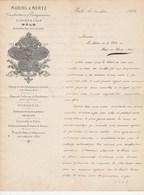 Suisse Lettre Illustrée 28/3/1880 MARING & MERTZ Construction Usines à Gaz, éclairage, Fonderie BÂLE - Suisse