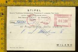 Milano Città Annullo Meccanico Rosso STIPEL - Milano