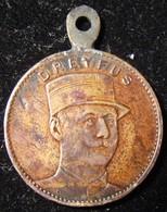 French Judaica Medal Commemorating Alfred Dreyfus & Fernand Labori - France
