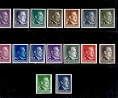 Gouvernement Général 16 Timbres Non Dentelés Neufs ** MNH. TB. A Saisir! - 1939-44: 2ème Guerre Mondiale