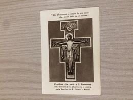 Santino Crocifisso Che Parlo' A S. Francesco Che Si Venera Nella Basilica Di S. Chiara In Assisi - Santini