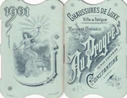 CALENDRIER   1901         AU PROGRES DE CONSTANTINE     COMPLET - Petit Format : 1901-20