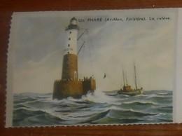 Image D'école Des Années 1950. Un Phare. Ar-Men. Finistère. La Relève. - Old Paper