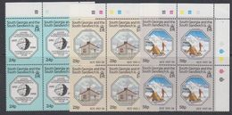 South Georgia 1987 IGY / Int. Geophysical Year 3v Bl Of 4 (corner) ** Mnh (42145A) - Zuid-Georgia