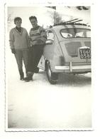 """2967 """" SULLA NEVE CON LA FIAT 600 CON LE CATENE """" FOTO ORIGINALE - Automobili"""