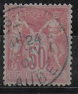 SAGE N/B - YVERT N° 104 OBLITERE - COTE = 38 EUR. - TTB - 1898-1900 Sage (Type III)