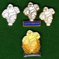 4 Pin's Michelin  Différents Zamac Et Autres   Fraisse Et Autres - Badges