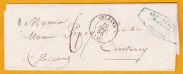 1856  - Lettre Avec Correspondance D'huissier D'Orléans, Loiret, Vers Courtenay - Taxe 6 - Cad Arrivée - 1849-1876: Klassik