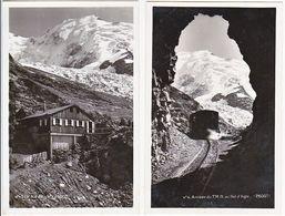 CPM.  74 Chamonix.Arrivée Du TMB , Nid D'aigle, . Lot De  2 Cartes.second Choix - Chamonix-Mont-Blanc