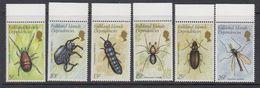 Falkland Islands Dependencies 1982 Insects 6v (+margin) ** Mnh (42146) - Zuid-Georgia