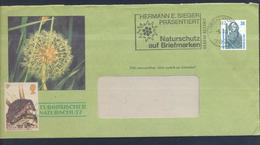 Germany 1991 Cover: Environtment / Nature Protection; Fauna Flora Edelweiss, Hedgehok - Briefmarken