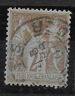 SAGE N/B - YVERT N° 105 OBLITERE - COTE = 50 EUR. -  TTB - 1898-1900 Sage (Type III)