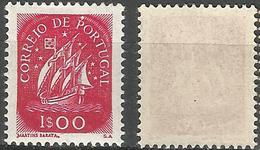 """PORTUGAL Caravela -1E- 1943- Afinsa 624- MNHOG- Small Frontal Touch Over """"P"""" - Nuevos"""