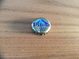 """Capsule * De Bière """"Piton"""" Sainte Lucie (Sainte Lucia - Caraïbes) Type 2 (coeur) - Bière"""