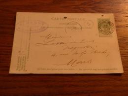 Entier Postal Pharmacie A Hardy Marchienne Au Pont  1906 Cachets Mons Marchienne Au Pont - Zonder Classificatie