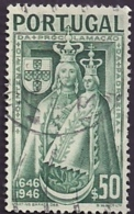 Portugal 1946 300th Anniv Proclamation Making Virgin Mary Patroness Of Portugal 3ºCent ProclamPadroeira De Portugal Canc - Christentum