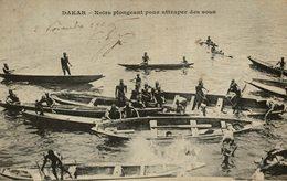 Dakar - Noirs Plongeant Pour Attraper Des Sous - Blacks Diving - Messageries Maritimes - Senegal