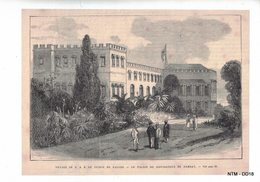 FRANCE - News Paper Cutting Showing Governor's Bunglow In Bombay, India In Around 1900. - Newspapers